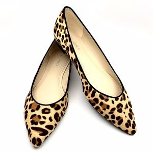 MARC FISHER ANALIA LEOPARD PRINT FLATS SHOES